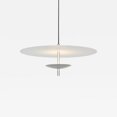 B TD Reflector LED Pendant Light Anodised Aluminum Silver White Shade