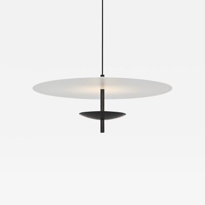 B TD Reflector LED Pendant Light Anodized Aluminum Black White Shade