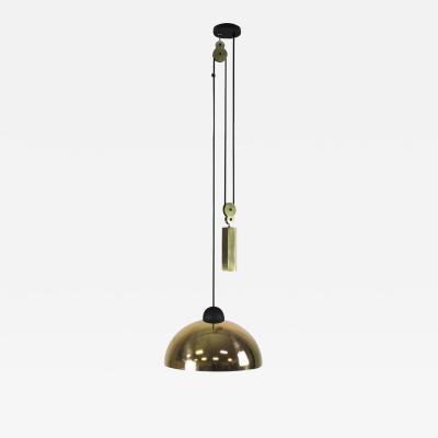 B TD Up Down Pendant Height Adjustable Light Brass Shade Brass Hex Counter Weight