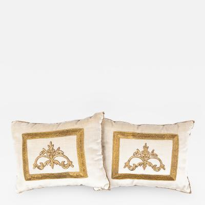 B VIZ Design Antique Ottoman Empire Raised Gold Embroidery E081221A B 11 1 2 x 15