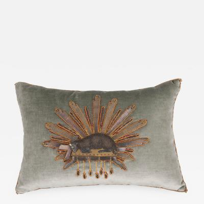 B VIZ Designs B Viz Design Antique Textile Pillow