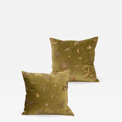B VIZ Designs PAIR OF ANTIQUE TEXTILE PILLOWS BY B VIZ DESIGNS
