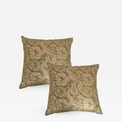 B VIZ Designs Pair of Antique Fortuny Pillows by B Viz Designs