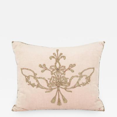 B VIZ Designs Pillow with Antique Embroidery