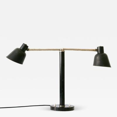 B nte Remmler Rare Two Armed Bauhaus Table Lamp by Christian Dell for B nte Remmler 1930s