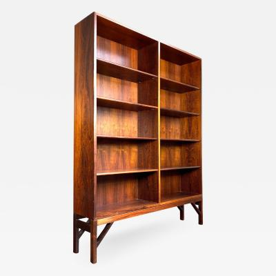 B rge Mogensen Borge Mogensen 1960s Tall Rosewood Bookcase by Borge Mogensen