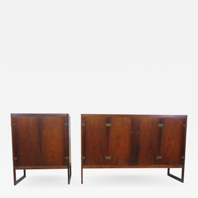 B rge Mogensen Borge Mogensen Pair of Borge Mogensen Rosewood Cabinets Model BM 57