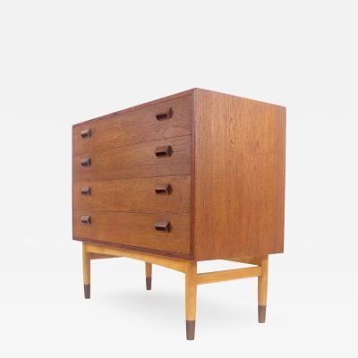 B rge Mogensen Borge Mogensen Scandinavian Modern Four Drawer Teak Dresser Designed by Borge Mogensen