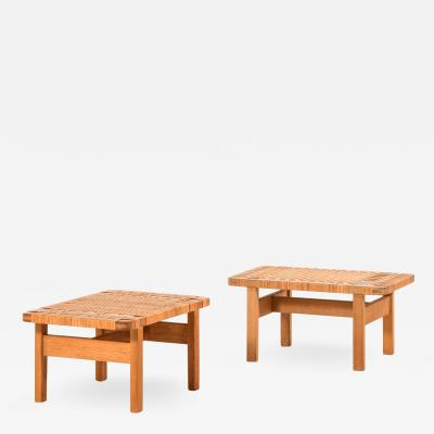 B rge Mogensen Borge Mogensen Side Tables Benches Model 5273 Produced by Fredericia Stolefabrik
