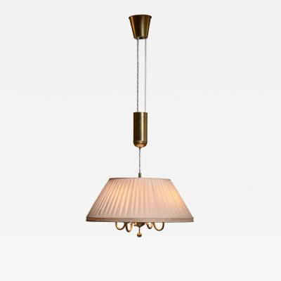 BOR NS BOR S Bor ns brass and fabric height adjustable pendant