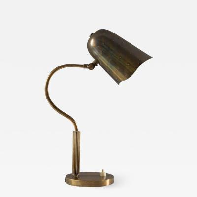 BOR NS BOR S Swedish Midcentury Table Lamp in Perforated Brass