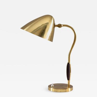 BOR NS BOR S Swedish Midcentury Table Lamp in Perforated Brass by Bor ns
