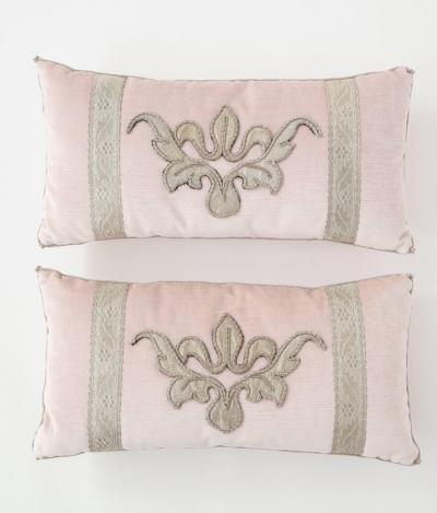 BViz Designs Pair of Blush Pink Velvet Pillows