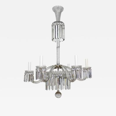 Baccarat 19th Century Restored Crystal Baccarat Chandelier