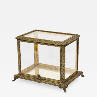 Baccarat Baccarat Paris a French Bronze and Glass Table Vitrine Box Cabinet circa 1880