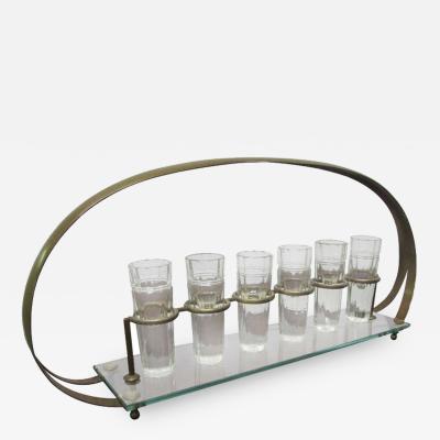 Baccarat Bronze Baccarat Shot Glass Caddy