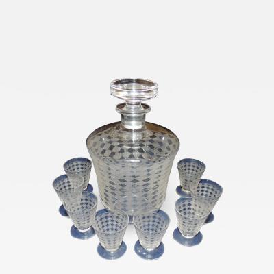 Baccarat Complete Set of Art Deco Baccarat Glassware