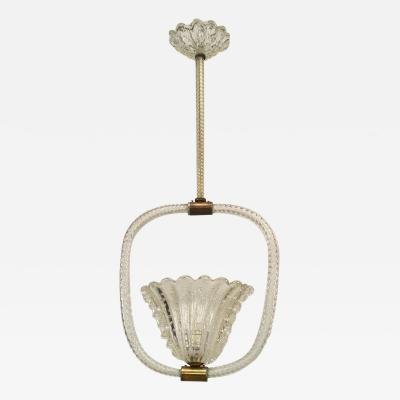 Baccarat French 1940s Baccarat Crystal Swirl Design Lantern