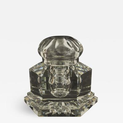 Baccarat French Mid Century Limited Edition Victor Hugo Crystal Inkwell