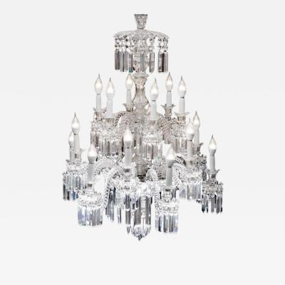 Baccarat Important Crystal Chandelier of Baccarat France 1850s