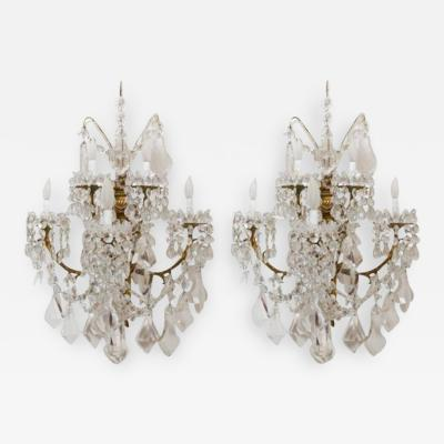 Baccarat L 16 Stunning Pair of Neoclassical Sconces by Baccarat
