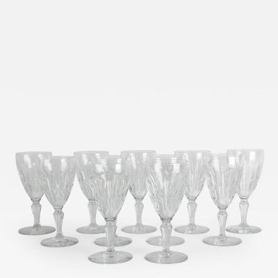 Baccarat Mid 20th Century Baccarat Crystal Glassware Set