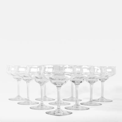 Baccarat - Vintage Set of Eight Baccarat Champagne or Drinks Coupe