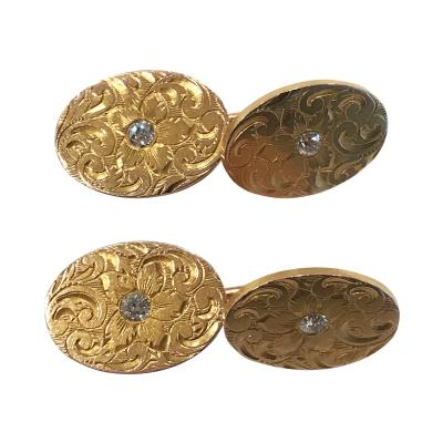 Bailey Banks Biddle Bailey Banks Biddle Diamond and Gold Cufflinks American C 1900