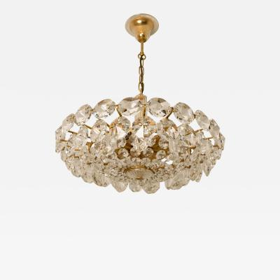 Bakalowits Sohne Bakalowits Sohne Crystal Chandelier Brass and Crystal Glass Austria 1960s