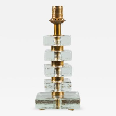 Bakalowits Sohne Glass and Brass Table Lamp by Bakalowits Short