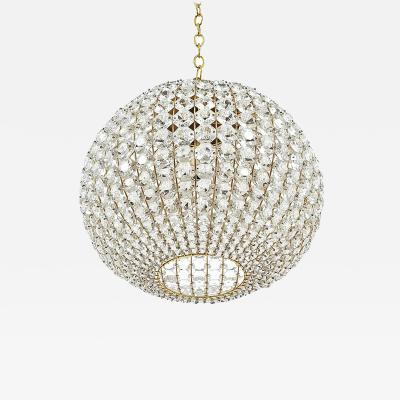 Bakalowits Sohne Large Ball Shaped Crystal Chandelier Austria