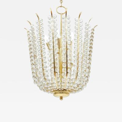 Bakalowits Sohne Majestic Basket Crystal and Brass Chandelier Bakalowits Circa 1950