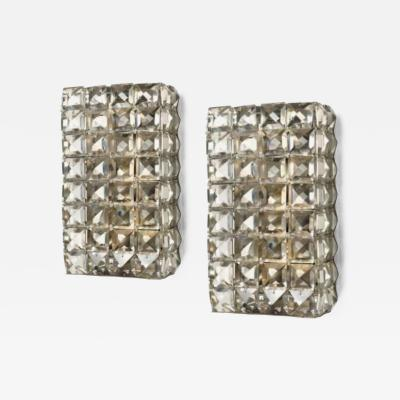 Bakalowits Sohne Pair of Sconces by Rolf Gutbrod E Bakalowits Soehne Vienna Austria 1964