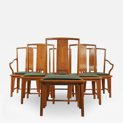 Baker Furniture Co Set of Six Silver Label Baker Furniture Chinese Style Ming Dining Chairs
