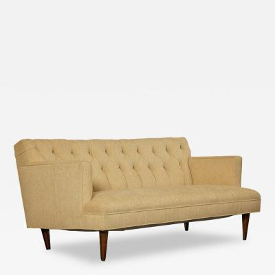 Baker Furniture Co Tufted Sofa in the Spirit of Dunbar Circa 1960s