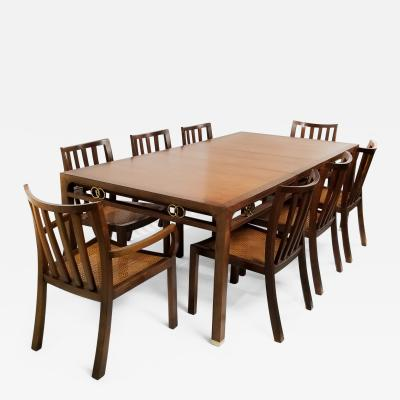 Baker Furniture Company 1960s Baker Far East Collection Dining Room Table and Chairs by Michael Taylor