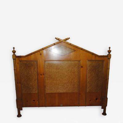 Baker Furniture Company Baker Faux Bamboo Queen headboard