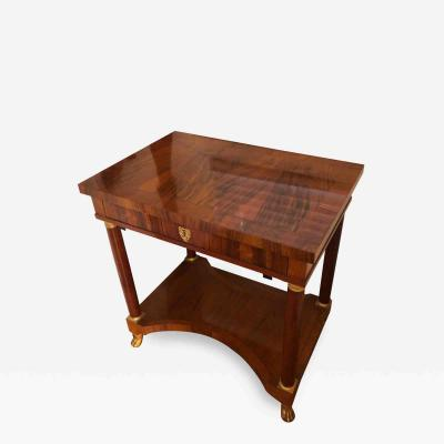 Baker Furniture Company Baker Furniture Company French Empire Gilt Bronze Mounted Side Table