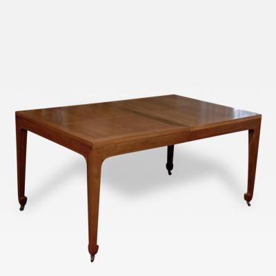 Baker Furniture Co.   Breathtaking Vintage Baker Extension Dining Table In  Walnut