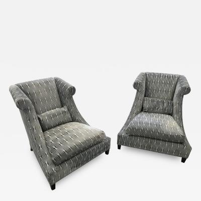 Baker Furniture Company Contemporary Upholstered Baker Chairs