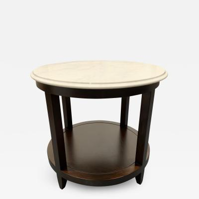 Baker Furniture Company Marble Top Side Table by Baker Furniture Company