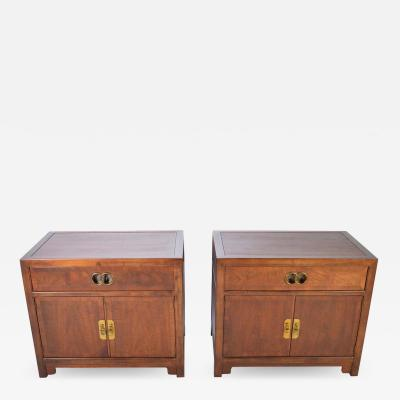 Baker Furniture Company Michael Taylor for Baker Nightstands Far East Collection circa 1955