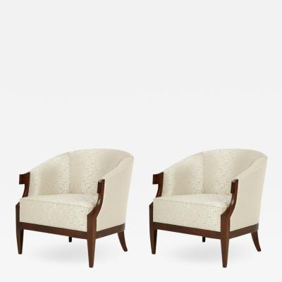 Baker Furniture Company Mid Century Club Chairs