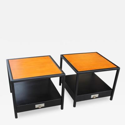 Baker Furniture Company Pair of Baker Mid Century End Tables a Pair