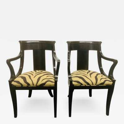 Baker Furniture Company Pair of Baker Neoclassical Style Side Chairs