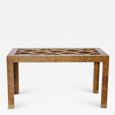 Baker Furniture Company Stylish 1940s Chinoiserie Dining or Desk Table by Baker