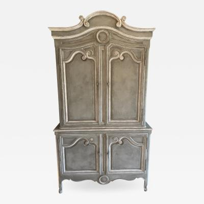 Baker Furniture Company Vintage Baker Furniture Company Paint Decorated Armoire Linen Press