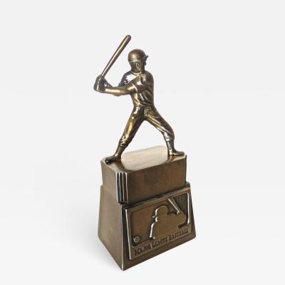 Banthrico Incorporated Baseball Player On Base Still Bank American Circa 1969