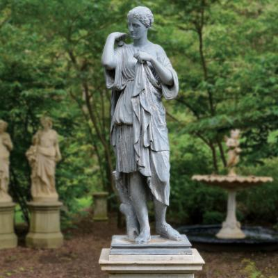 Barbara Israel Garden Antiques A Rare Zinc Figure of Diana de Gabii American ca 1880