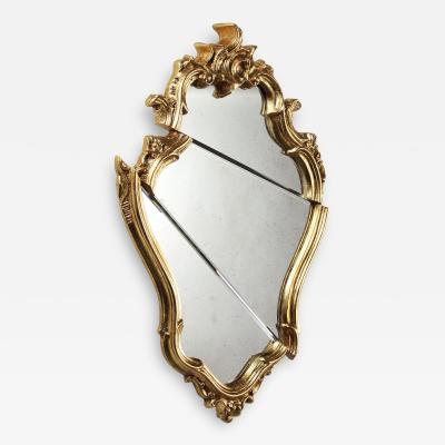 Barberini Gunnell Wall mirror gold leaf classic frame Rococo style made in Italy